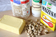 ingredients for pistachio shortbread