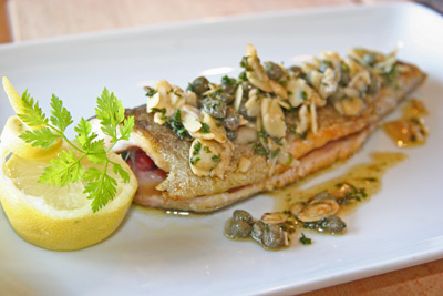 Trout with nut brown butter